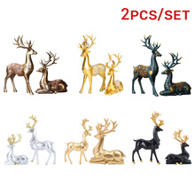 2pcs Deer Decoration Creative Couple Stylish Special Deer Decoration Deer Ornament For