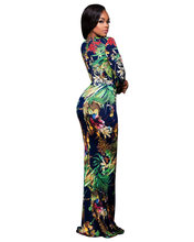 AliExpress EBay European And American-Style Hot Selling Printed Deep-V Long Sleeve Dress Wish Amazon FB8B026D(China)