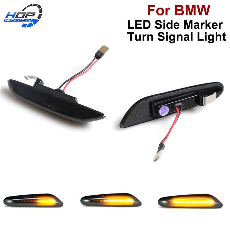 2pc Led dynamic Turn signal light side Fender Marker Lamp Sequential indicator lights E90 E91 E92 E60 E87 E82 E46