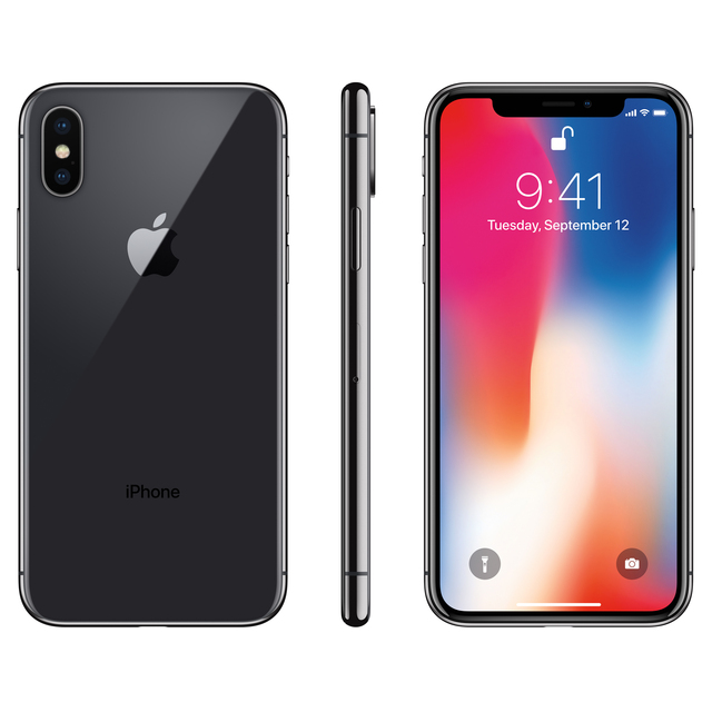 CN/RU Apple Used iPhone X With Face ID 64GB/256GB ROM 5.8'' Mobile Phone 3GB RAM 12MP Hexa Core iOS A11 Dual Back Camera 4G LTE 3
