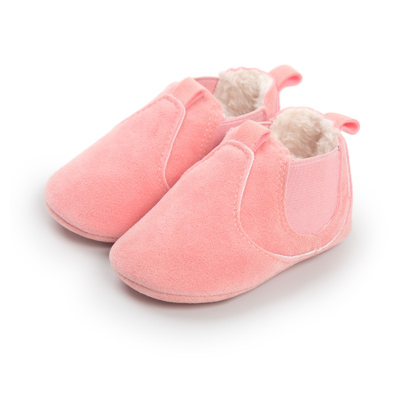 Cute Soft Bottom Solid Baby Shoes Infant Newborn Boy Girl Thicker First Walkers Shoes Sneaker Shoes For Baby Girl Boy
