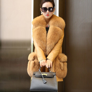 Natural Real Fox Fur Coat Women Winter natural fur Vest Jacket Fashion silm Outwear Real Fox Fur Vest Coat Fox