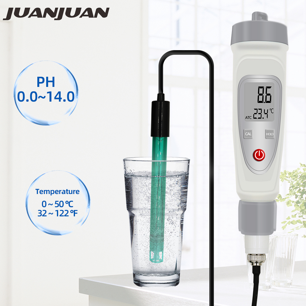 New  0.01 PH Tester PH Temperature Meter Pen Type Precision Water Quality Monitor Tester For Swimming Pools, Aquariums 50%off