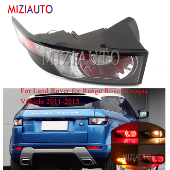 rear bumper reflect light with bulb for range rover evoque 2012 automobile rear brake fog light tail stop turn signal lamp For Land Rover for Range Rover Evoque Vehicle 2011-2015 Tail Light Rear Bumper Light Tail Brake Stop Lamp turn signal taillights
