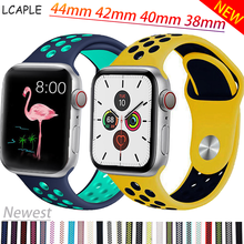 цена на Strap for Apple watch band Apple watch 5 4 3 2 1 44 mm/40mm iWatch band 42mm/38mm Breathable Sport Silicone bracelet watchband