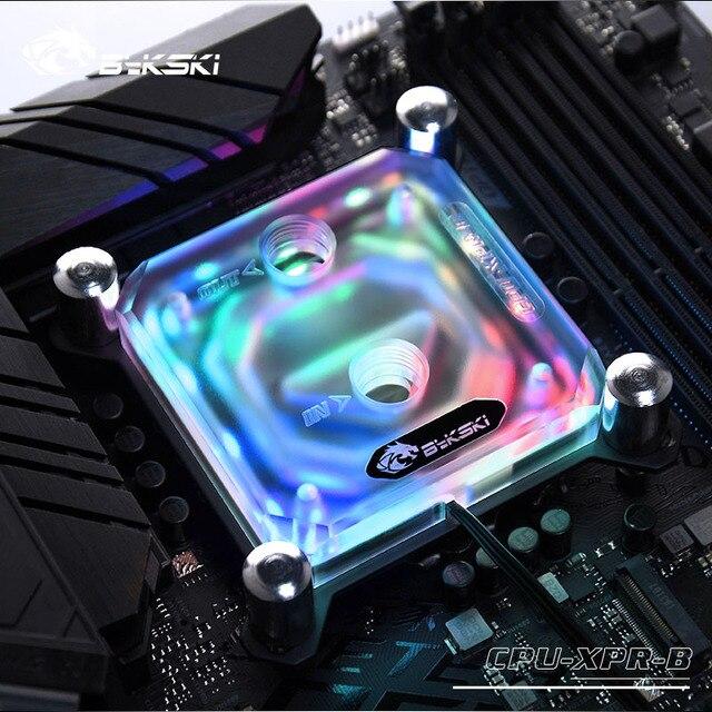 Bykski CPU su bloğu kullanımı INTEL LGA1150 1151 1155 1156 2011 X99 şeffaf RGB desteği 5V 3PIN GND başlık anakart