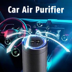 Portable Air Purifier Car Air Purifier & HEPA Filter Fresh Air Anion Infrared Sensor USB Air Cleaner For Car SUV Jeep Smoking