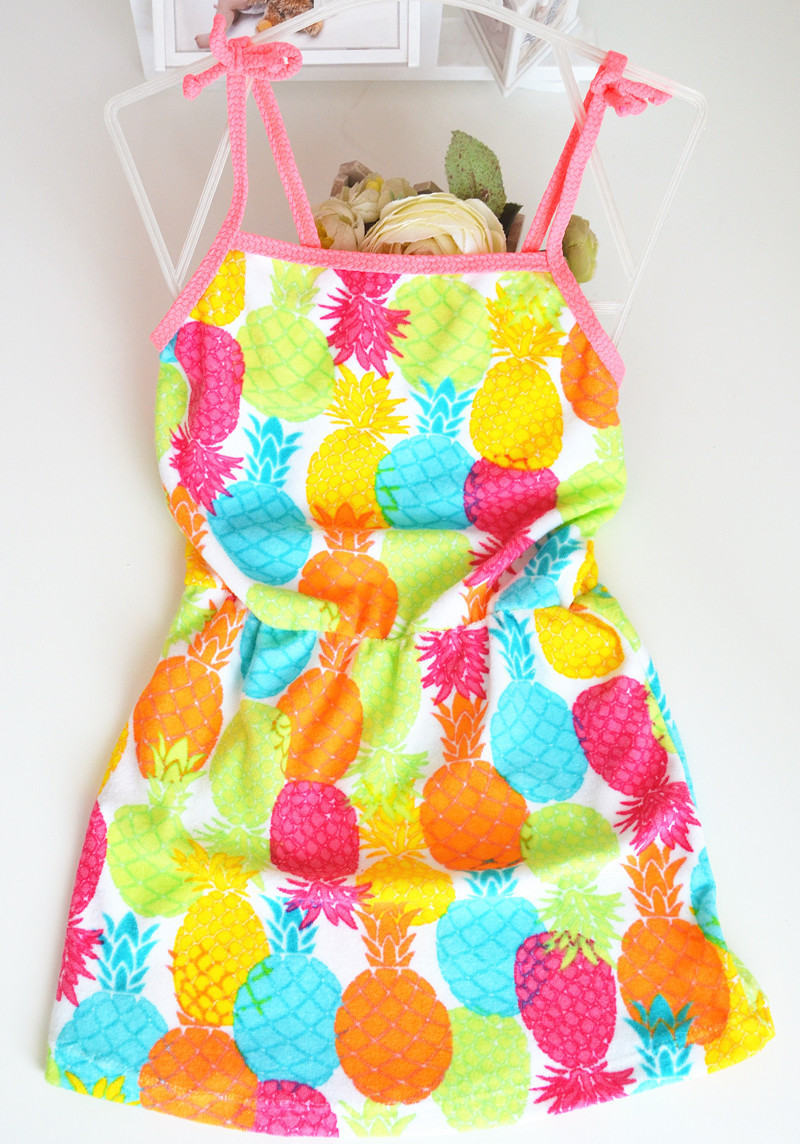2020 KID'S Swimwear Floral Cartoon Pineapple Children Bath Skirt Nightgown Cute Men And Women Baby Small Children Swimwear