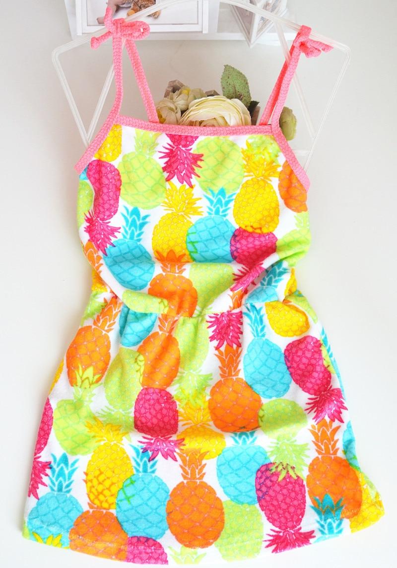 2020 KID'S Swimwear Floral Cartoon Pineapple Children Bath Skirt Nightgown Cute Men And Women Baby Small Children Swimwear