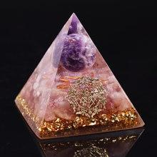 Orgon piramidi enerji çakra Reiki Meditaiton süsler çilek kristal kuvars Emf orgon piramidi