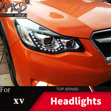 Head Lamp For Car Subaru XV 2011-2019 Headlights crosstrek Fog Lig Day Running Lights DRL H7 LED Bi Xenon Bulb Car Accessories