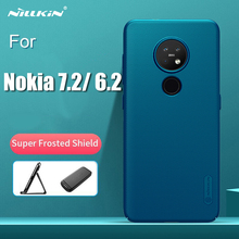 For Nokia 7.2 Matte Cover Nillkin Frosted Shield Hard Back Case For Nokia 6.2 with phone Holder