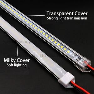Image 2 - 5pcs led 막대 빛 ac220v led 엄밀한 지구 20cm 40cm 50cm 60cm u 알루미늄 포탄을 가진 led 관 + 부엌 내각을위한 pc 덮개