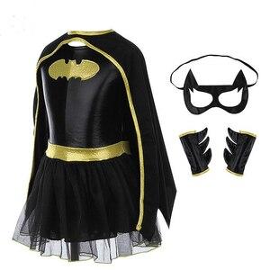 Image 2 - Super hero Film Die Batman Kostüm Kind Mädchen Batman Kinder Maske Kleid Batman Kostüme Super hero Sets Outfits Festival Party