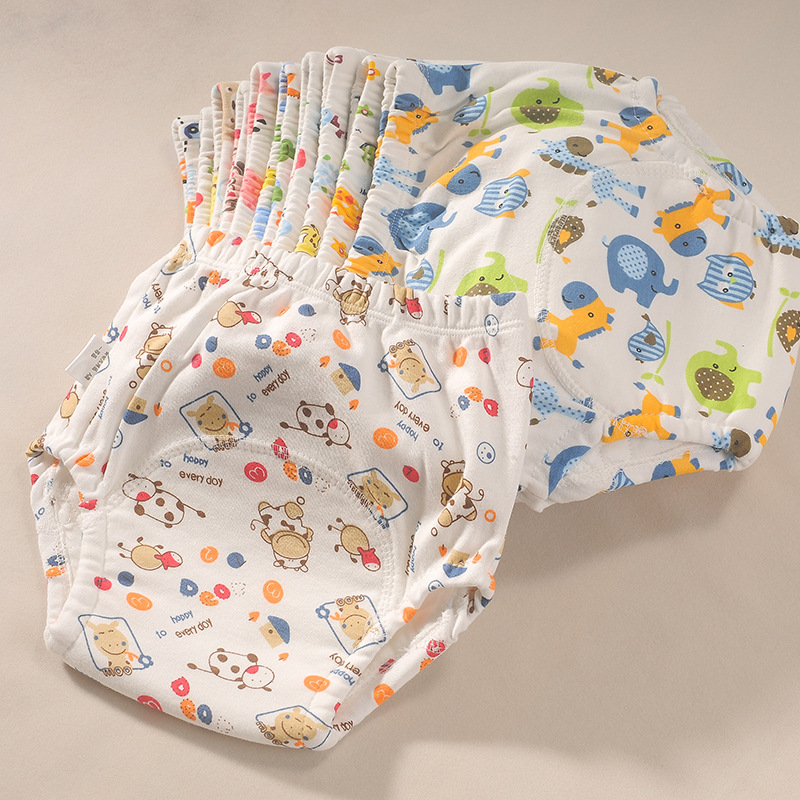 Baby Training Pants Pure Cotton Diaper Wash Breathable Soft Waterproof Adjustable Newborn Reusable Pocket Diapers Washable Cloth