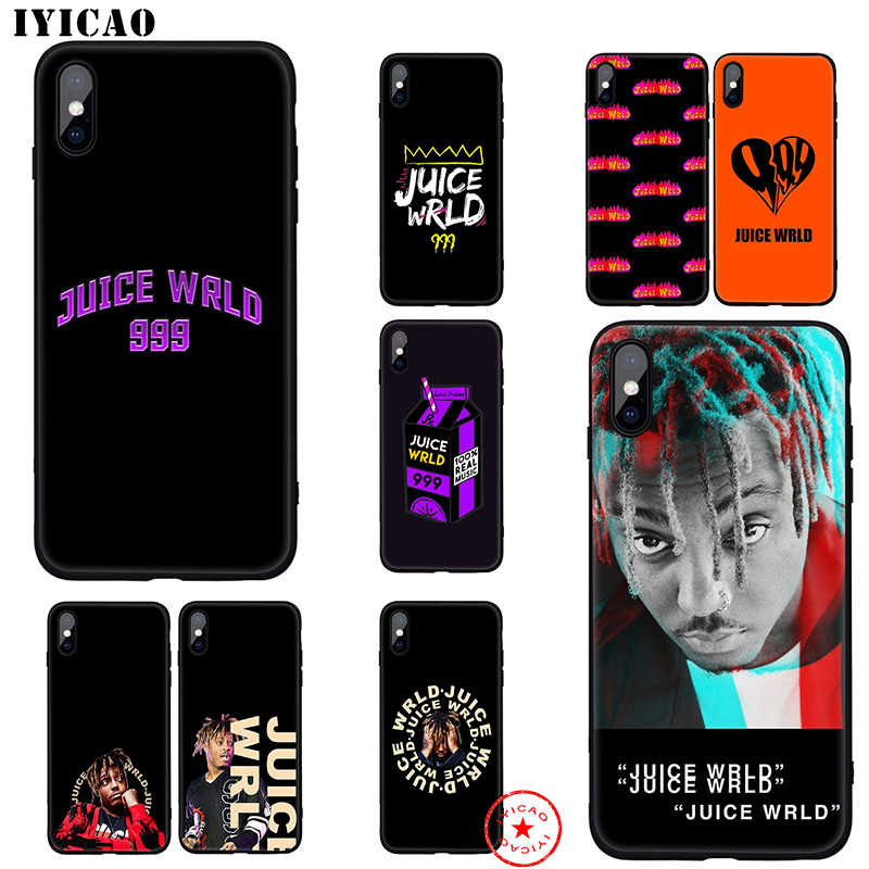 IYICAO Juice WRLD Juice Soft Case for iphone 11 Pro Xr Xs Max 6 6s 7 8 Plus 5 5s Se Silicone TPU 7 Plus