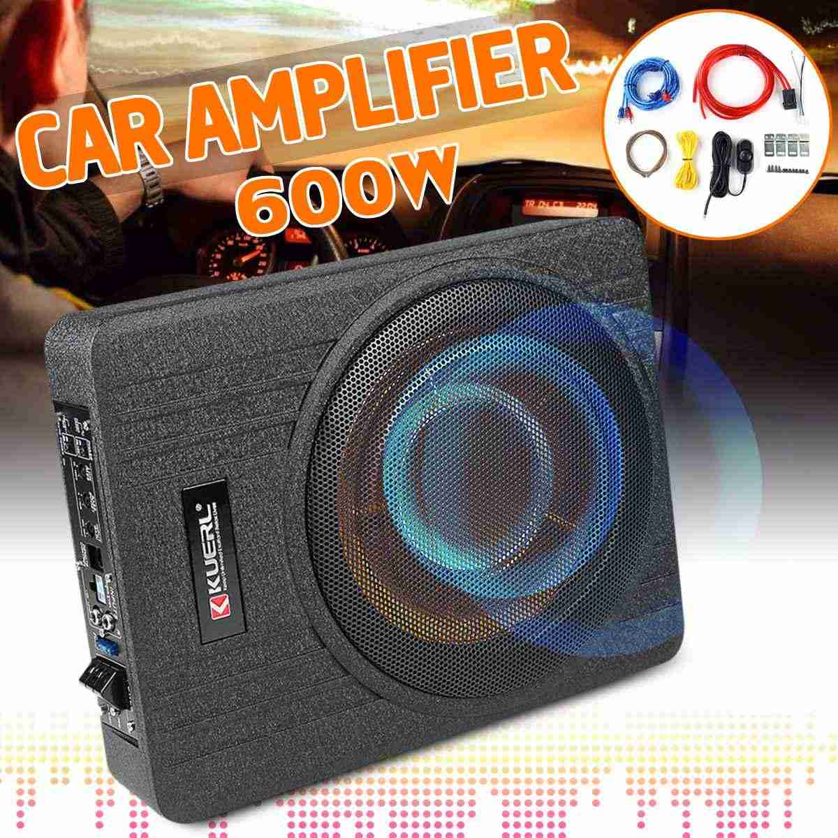 10 Inch 600W Car Super Slim Active Subwoofer Under Seat Sub Amplifier  Car Subwoofers Active Subwoofer Car Speaker