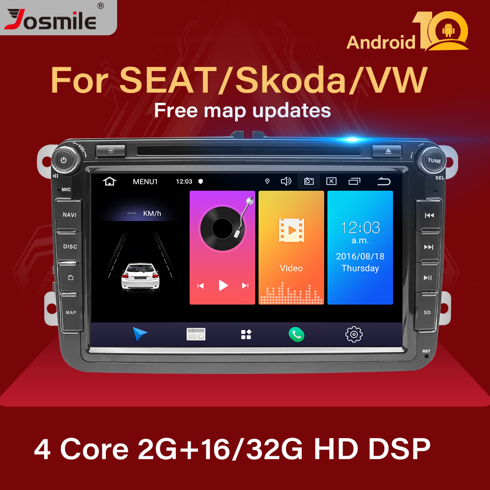 2 Din Android 10 Car Radio GPS Navigation For VW Passat B6 amarok <font><b>volkswagen</b></font> Skoda Octavia 2superb Jetta T5 <font><b>golf</b></font> 5 <font><b>6</b></font> <font><b>Multimedia</b></font> image