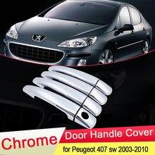 Couvercle de poignée de porte chromé ABS, pour Peugeot 407 SW coupé 2003 2004 2005 2006 2007 2008 2009 2010, garniture de voiture, accessoires de style