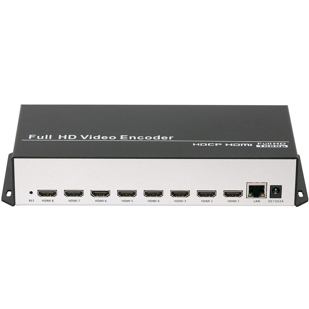 Image 2 - 8 In 1 H.264 HDMI To IP Video Encoder IPTV 8 Channels Live Streaming Encoder HD Encoders H264 With UDP HLS RTMP RTSP HTTP ONVIFRadio & TV Broadcast Equipments   -
