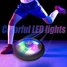 Crianças bebê objetivo brinquedo ar pairar bola de futebol brinquedos educativos para casa ao ar livre indoor criança promoção led flash luz recarregável