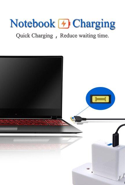 1.5M-4.9FT USB-C männlichen kopf zu DC kleine Platz stecker PD Notebook Schnelle ladekabel, computer Daten Linie