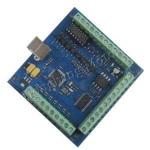 Factory outlets mach3 USB CNC 4 Axis Stepper Motor Driver Breakout Board Smooth Motion USB Controller card 12-24V 100KHz(China)