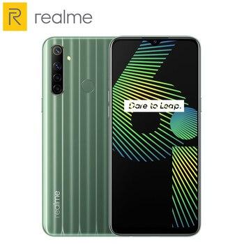 Купить Мобильный телефон Realme 6i 6,5 дюйма, 4 Гб 128 ГБ, мобильный телефон 48 МП, AI Quad camera, аккумулятор 5000 мАч, Восьмиядерный Helio G80