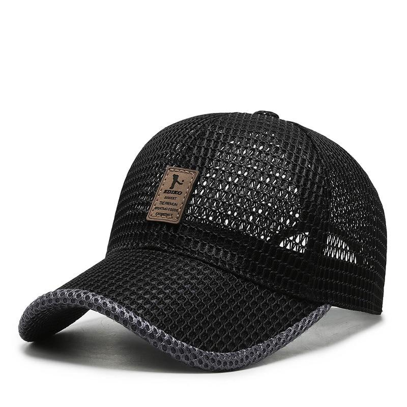 Estate Unisex Uomini di pesca Cappellini Da Baseball Donna Traspirante Maglia Cappelli di Snapback Nero Casual cappelli di sport Cap 2