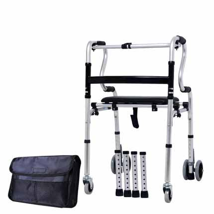 Walker Four Foot Assistance Step Implement Walking Stick The Elderly Walking Stick Many Chairs And Stools Function Walk Stand