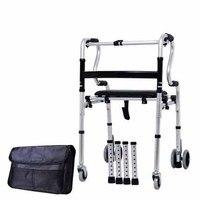 Yürüteç dört ayak yardımı adım uygulaması baston yaşlı baston birçok sandalyeler ve tabureler fonksiyonu yürüyüşü standı