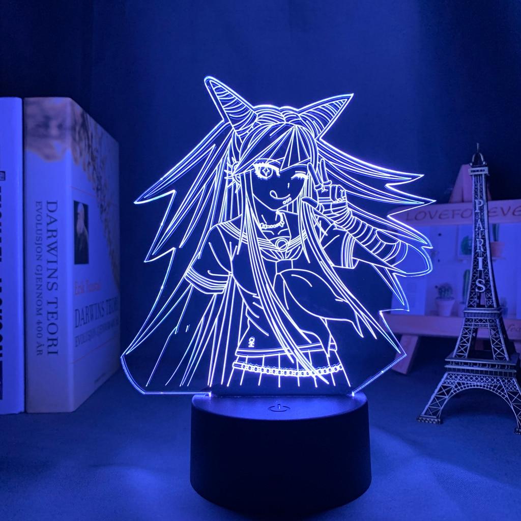 Hebb5455b75ae450ab0887903a61706a7m Luminária Danganronpa led night light ibuki mioda lâmpada para decoração do quarto crianças presente danganronpa acrílico 3d lâmpada ibuki mioda