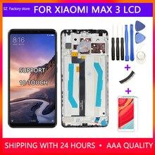 """6.9 """"substituição da tela para xiao mi mi max 3 display lcd & touch screen digitador assembléia quadro conjunto para max3 com ferramentas gratuitas"""