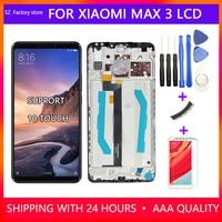 Xiao mi mi max 3 lcd 디스플레이 및 터치 스크린 디지타이저 프레임 어셈블리 용 6.9
