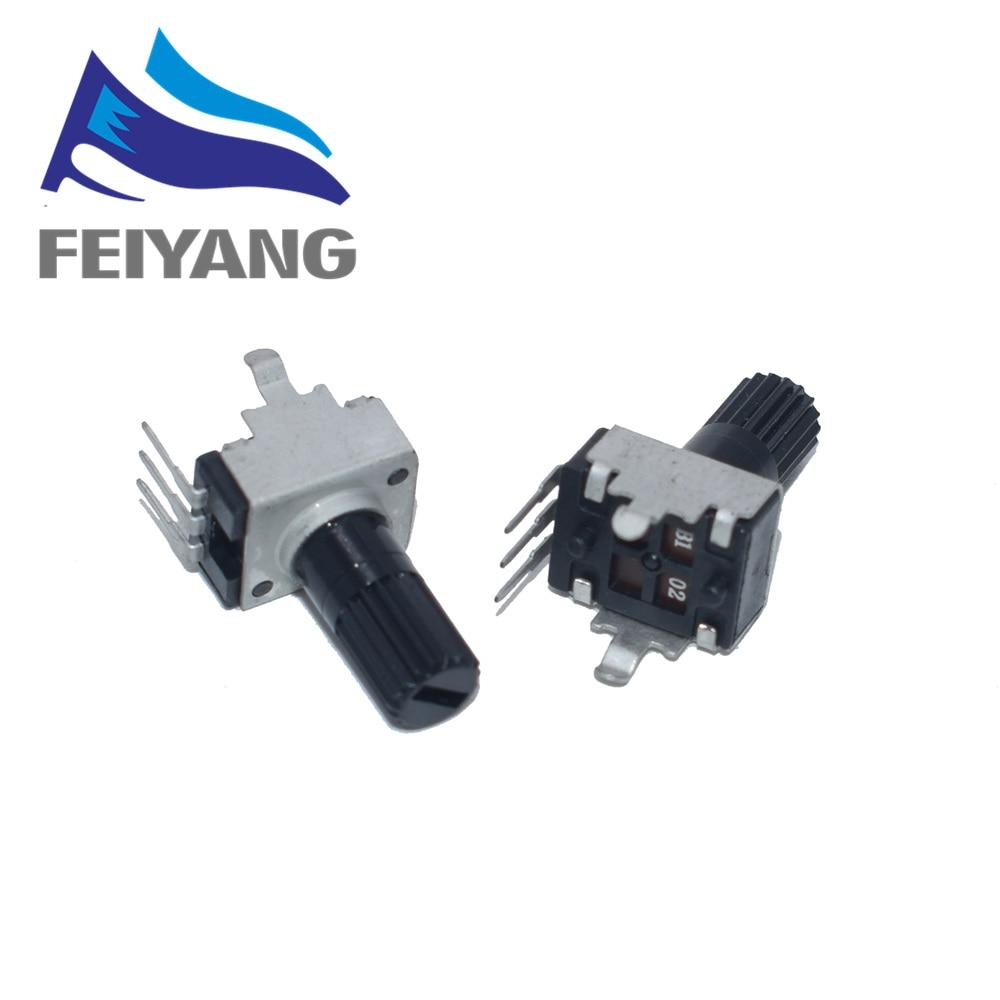 10pcs Rv09 Vertical 12.5mm Shaft 1k 2k 5k 10k 20k 50k 100k 0932 Adjustable Resistor 9 Type 3pin Seal Potentiometer