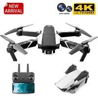 JINHENG nuovo S62 RC Drone 4K HD doppia fotocamera WIFI Video fotografia aerea professionale pieghevole Quadcopter Ravity Sensor regalo