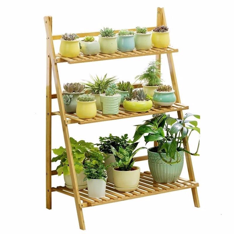 Indoor Wood Jardin Estanteria Plantas Suporte Flores Plantenrekken Saksi Standi Balcony Flower Rack Stojak Na Kwiaty Plant Shelf