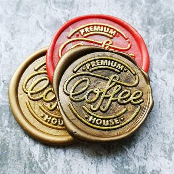 Premium Coffee house Seal kartkę z życzeniami pieczęć pieczęć mosiądz nieregularne pieczęć kartka świąteczna zaproszenie dekoracyjne pieczęć wosk pieczęć tanie i dobre opinie XunMade CN (pochodzenie) seal stamp Standard Stamp Metal Personalized Motto