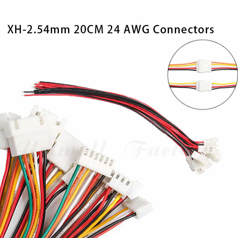 10 Pcs Kawat Kabel Konektor Pria & Wanita Pengisian Baterai Kabel Panjang 200 Mm 26AWG2/3/4/ 5/6 Pin 2.54 Mm
