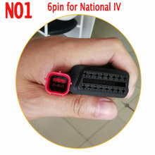 Profes EFI National IV Motorcycle Engine Fault Detection Adapter OBD2 16Pin to 3PIN/4PIN/6PIN Convertor Plug for Kawasaki/Yamaha