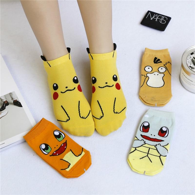 Harajuku Cartoon Character Cute Short Socks Women Fashion Cute Patterend Ankle Socks Hipster Pet Elf Ankle Funny Socks Female