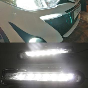 LED DRL Daytime Running Light Daylight Signal fog lamp Styling Auto Drive lights For Toyota Yaris 2017 2018 Model year