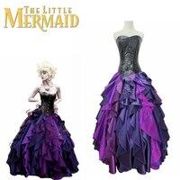 New The Little Mermaid Dress Sea Witch Ursula Princess Dress Cosplay Purple Costume Custom Made