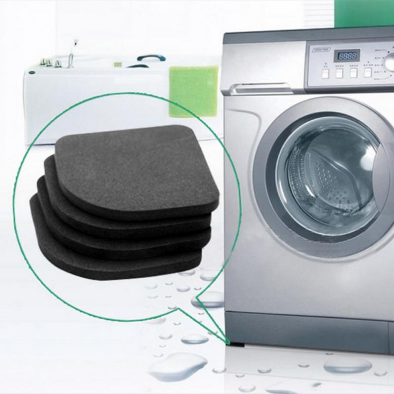 4Pcs/Set Washing Machine Anti-Vibration Pad Non-Slip Sponge Mats Kitchen Refrigerator Shock Mats Floor Furniture Protectors Pad 1