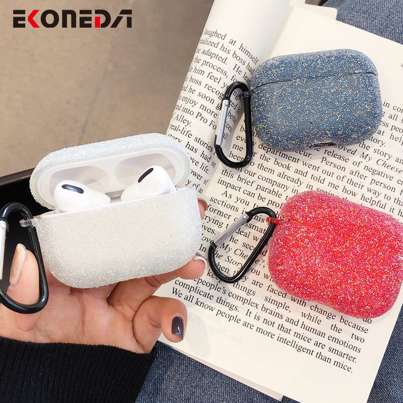 EKONEDA Bling Luxury Diamonds Case For Airpods Pro Case Silicone Cover Soft Candy Colors Girl Protective Case For Airpod Pro