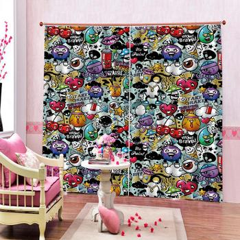 Luxury Blackout 3D Window Curtains For Living Room Bedroom Customized size cartoon curtains kids curtains