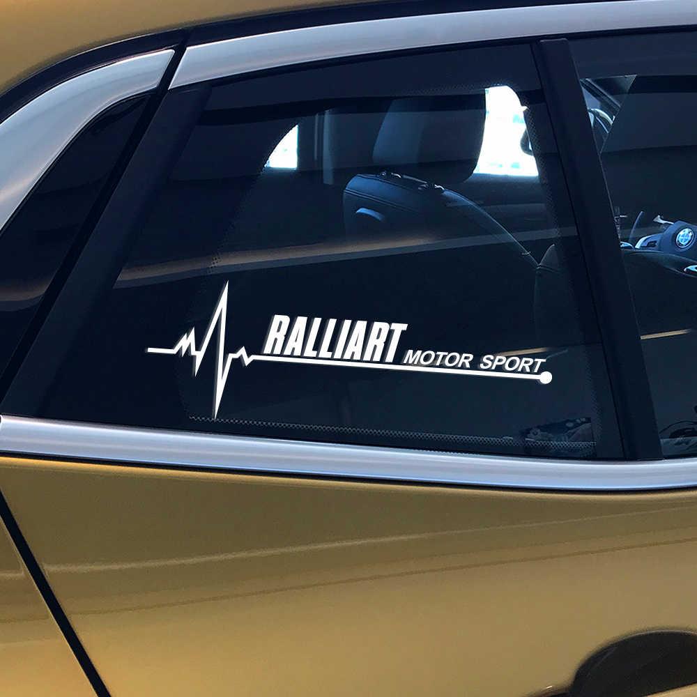 2 piezas de Deportes de calcomanías de vinilo coche ventana etiqueta engomada para Mitsubishi Lancer 10 3 9 EX Outlander 3 ASX l200 Ralliart Accesorios