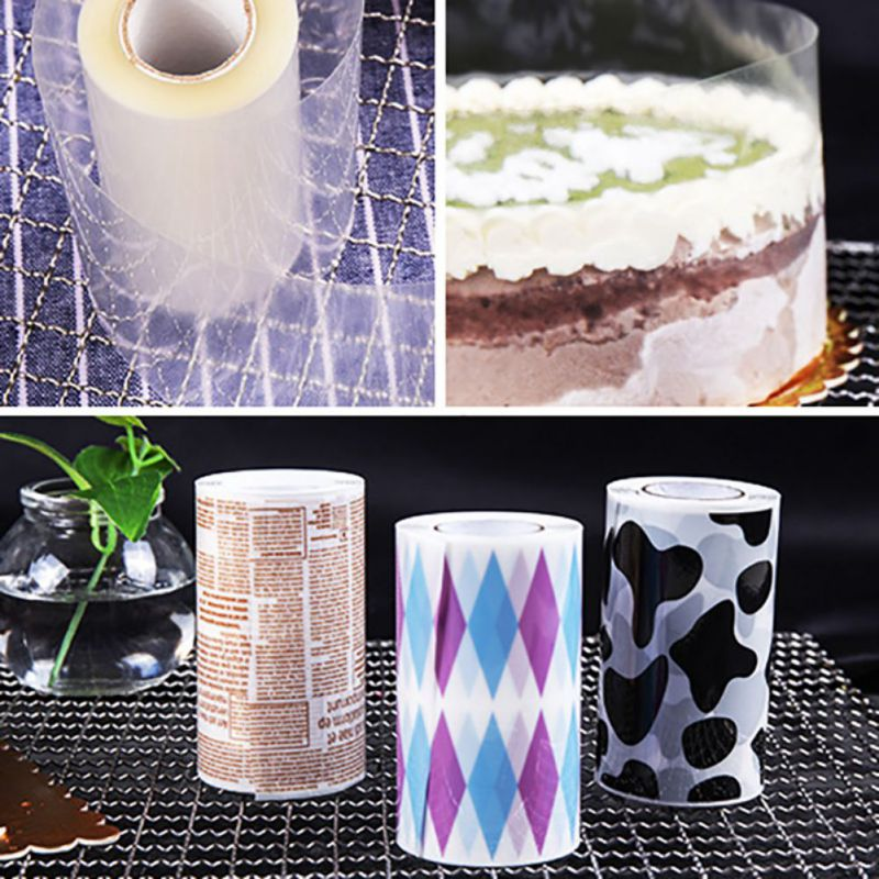 Cake Rims Transparent Mousse Hard Edging Soft Rims Disposable Safe For Cake Decorating 8 10CM in Cake Decorating Supplies from Home Garden
