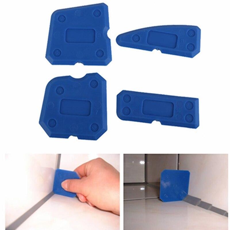 4pcs/Set Glass Glue Shovel Silicone Gel Squeegees Sealant Angle Corner Spreader Spatula Rubber Scraper Cement Residual Glue