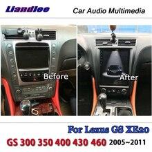 Liandlee pantalla Vertical de 10,4 pulgadas Tesla para Lexus GS XE20 GS 300 350 400 430 Android BT DAB Map GPS Navi, navegación Multimedia